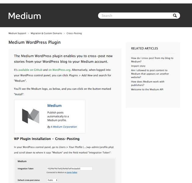MediumのWordPressプラグイン