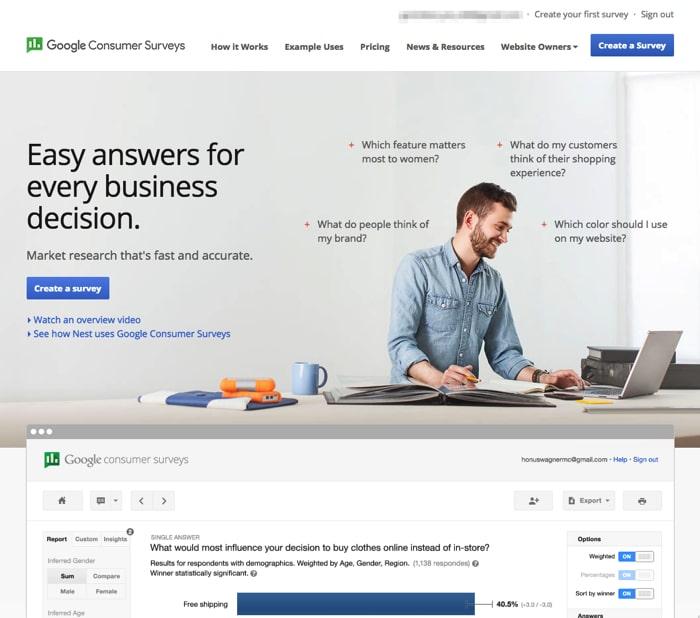 低予算で簡単に市場調査ができる「Google Consumer Surveys」がオンライン市場調査に最適!