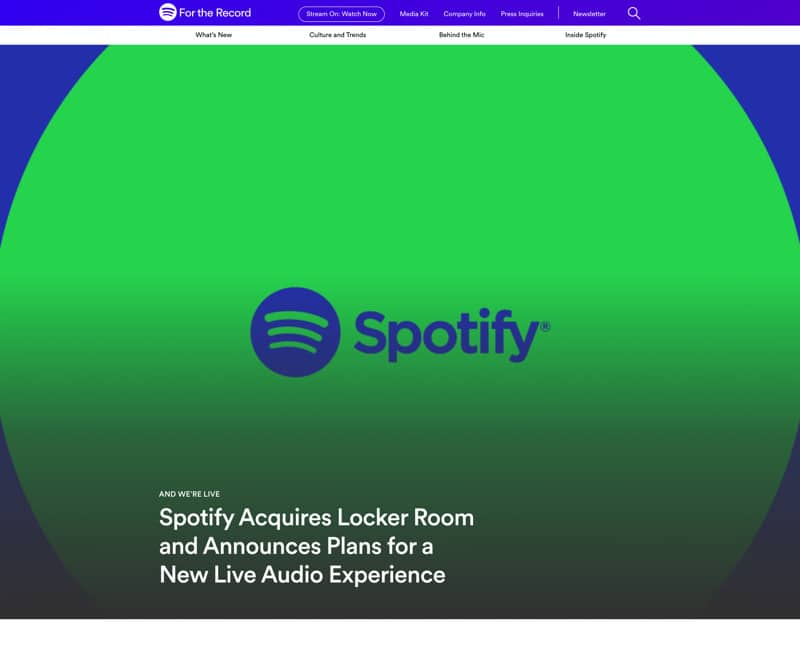 Spotify For the Record